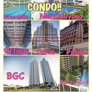 Rent to own and preselling condominiums in Metro Manila. Flexible Payment Terms . Ready for Occupancy or Preselling. 0% interest. Get Big Discounts