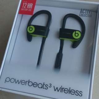 100% Brand New powerbeats 3 wireless active collection 最新款未拆無線藍芽耳筒