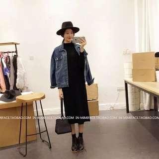 [1月上架]長版黑色針織裙