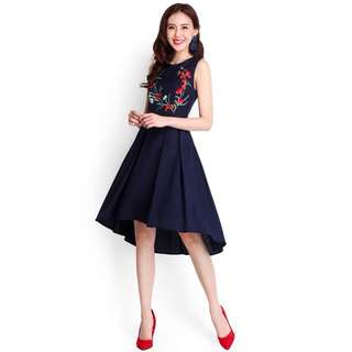 Lilypirates Look of Grandeur Dress In Midnight Blue