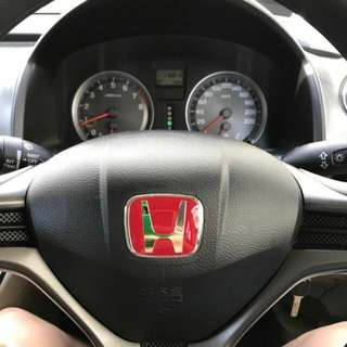 Red Honda Steering Wheel Emblem