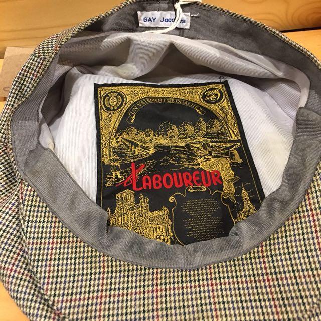 🇫🇷70s法國Le Laboureur千鳥格紋復古狩獵帽 古董老帽 男女皆可Vintage 歐美古著