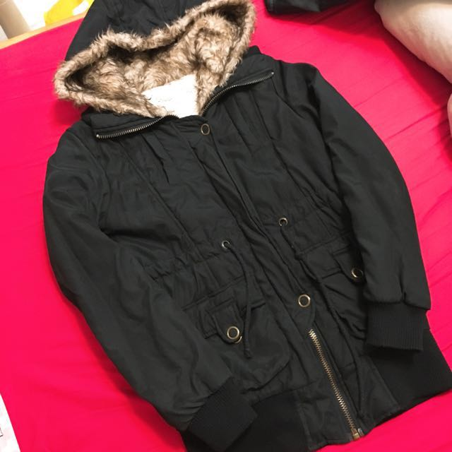 冬季鋪棉厚長版外套