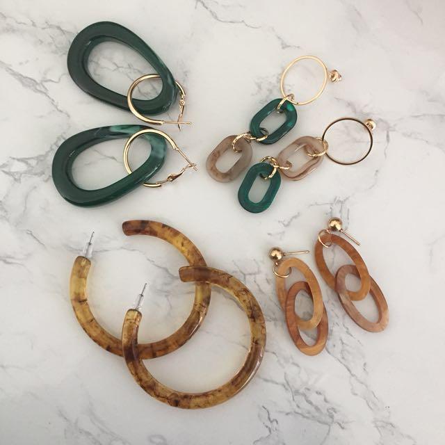 秋冬必備新款琥珀耳環(預購)