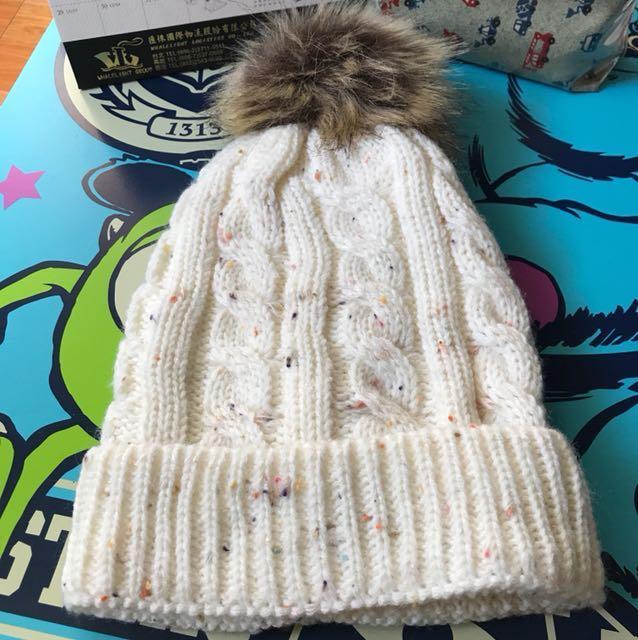 可愛毛球毛帽