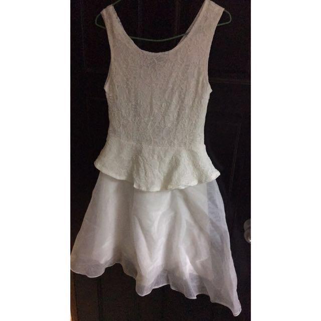 正韓質感洋裝(白)伴娘禮服
