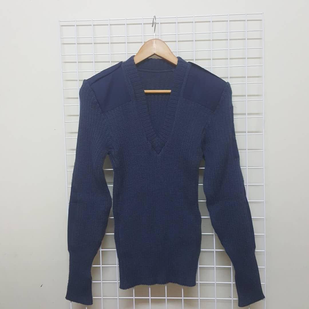古著軍裝用深藍毛衣 比利時製