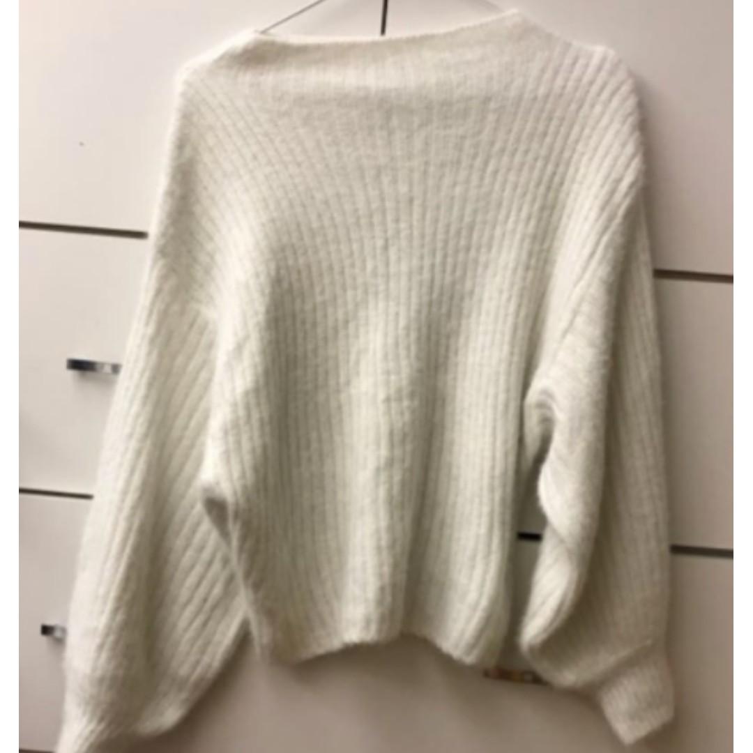 韓版螺紋毛海上衣 針織毛衣 厚款 很柔軟