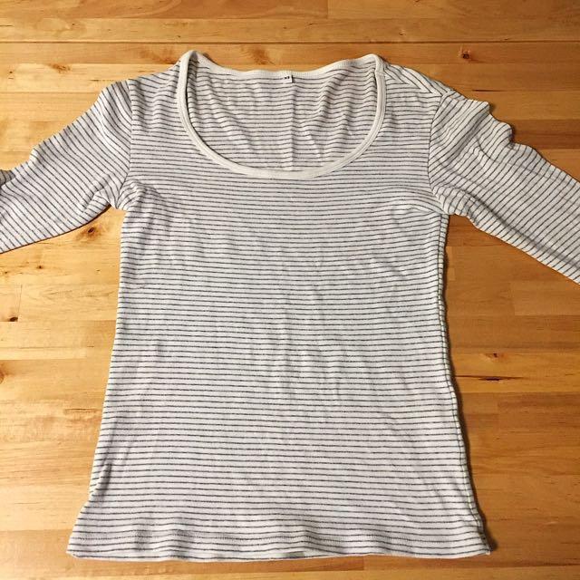 日本 無印良品 muji 經典款條紋上衣