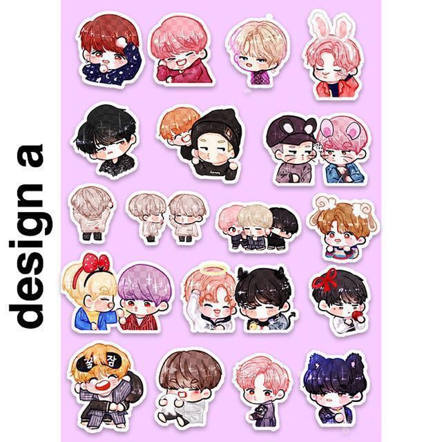 Nfs Bts Chibi Fanart Stickers Preorders On Carousell