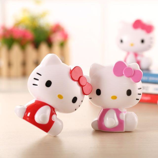 三麗鷗 hello kitty 小夜燈 夜晚燈 泡奶燈 怕黑燈 萌爆 可愛 造型 療癒 紅色 粉色 安全