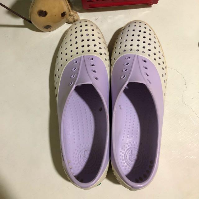 [正品] Native晴雨鞋 (薰衣草紫x米白 女鞋)