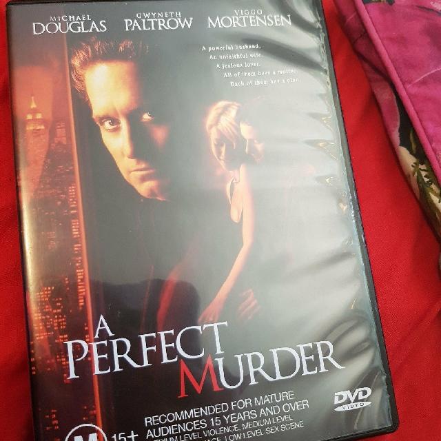 A perfect murder DVD