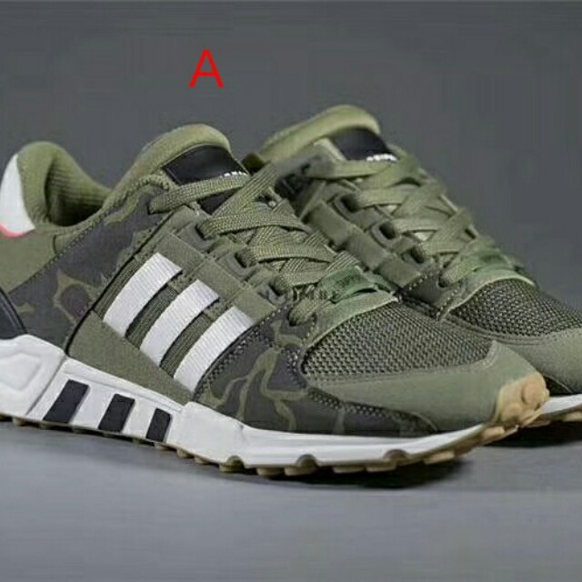 new style 8d83a 3c3e6 Adidas EQT CAMO GREEN, Mens Fashion, Footwear on Carousell