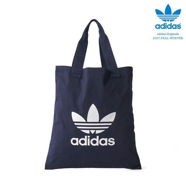 日本代購-Adidas 經典三葉logo帆布袋(預購)