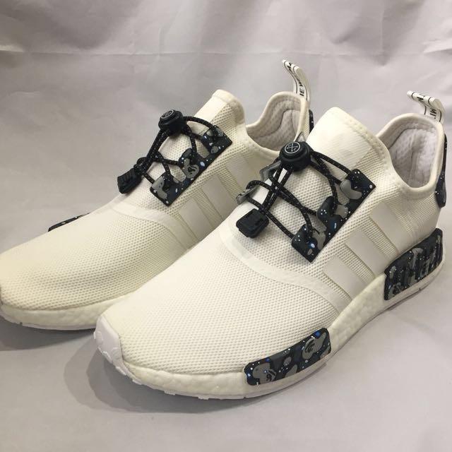 Adidas NMD R1 Bape Custom Mens Fashion Footwear On Carousell