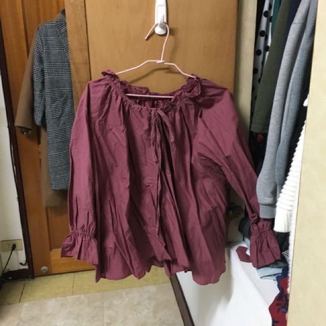 Ajpeace紅色上衣