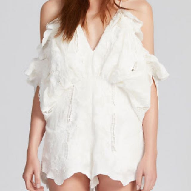 08e8ae25ebe Alice McCall White Shake It Off Playsuit Size 8
