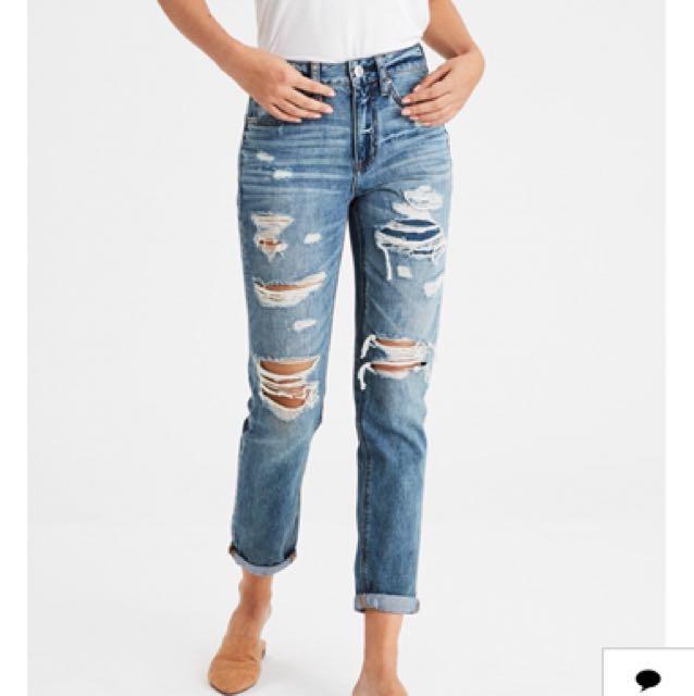 American Eagle Hi-Rise Tom Girl Jeans / Denim / Pants / Boyfriend / High Waisted