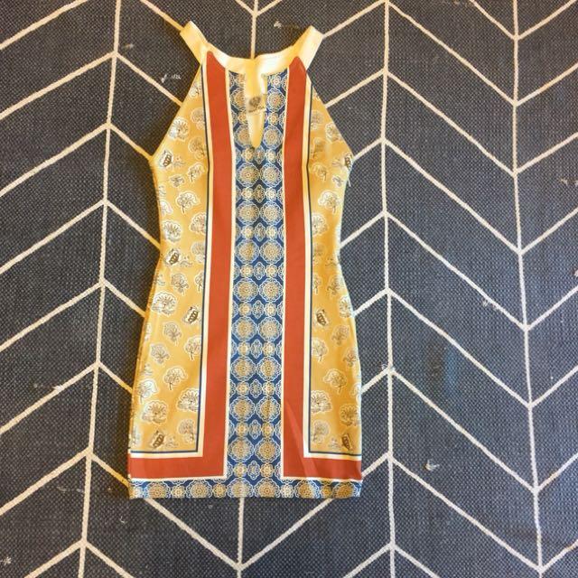 Angel Biba Sz 8 mini dress -Mosaic pattern