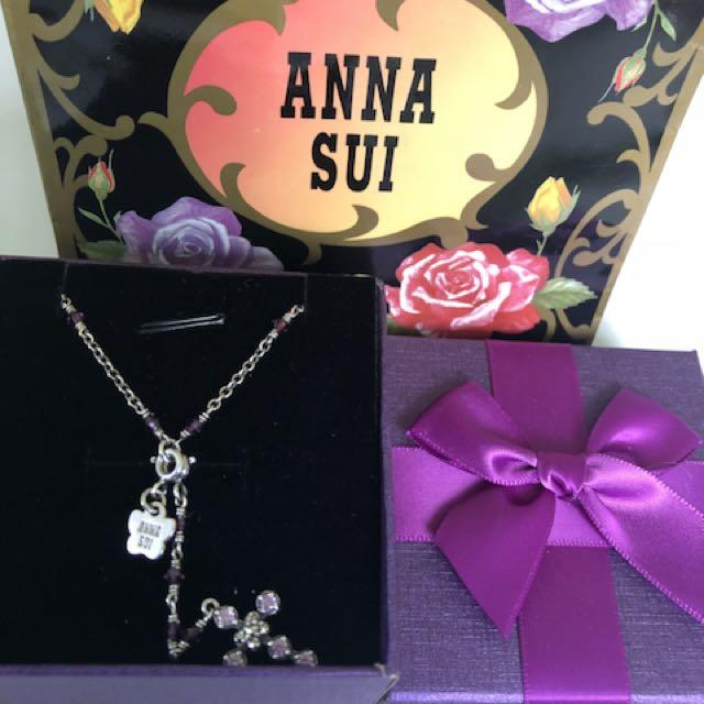 ANNA SUI 紫水晶百變Y字純銀項鍊
