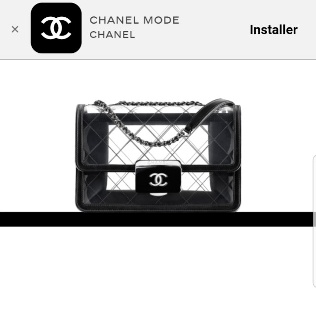 53707de3db79 Authentic - Chanel Flap Bag Transparent Toile