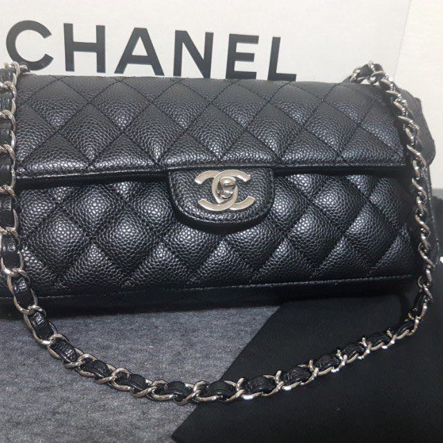 c53db909dea478 Authentic Chanel East West Caviar flap, Luxury, Bags & Wallets on Carousell