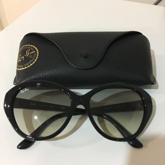 Authentic Ray Ban Black Cat Eye Sunglasses