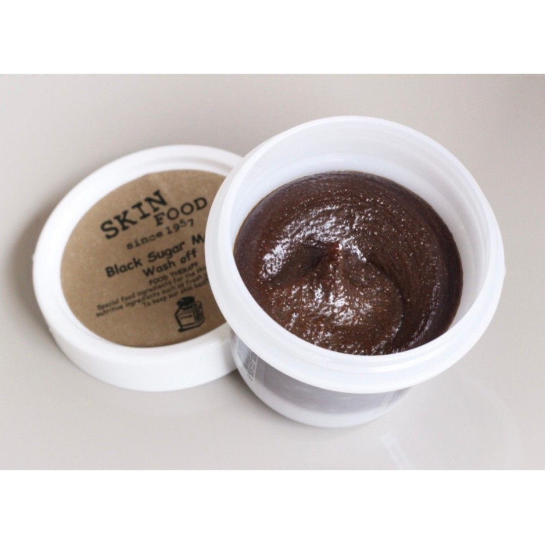 Authentic Skinfood Black Sugar Mask Health Beauty Skin Bath Food Honey Wash Off 100gr Photo