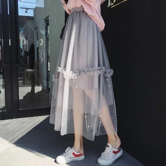 Beads Tutu Layer Skirt