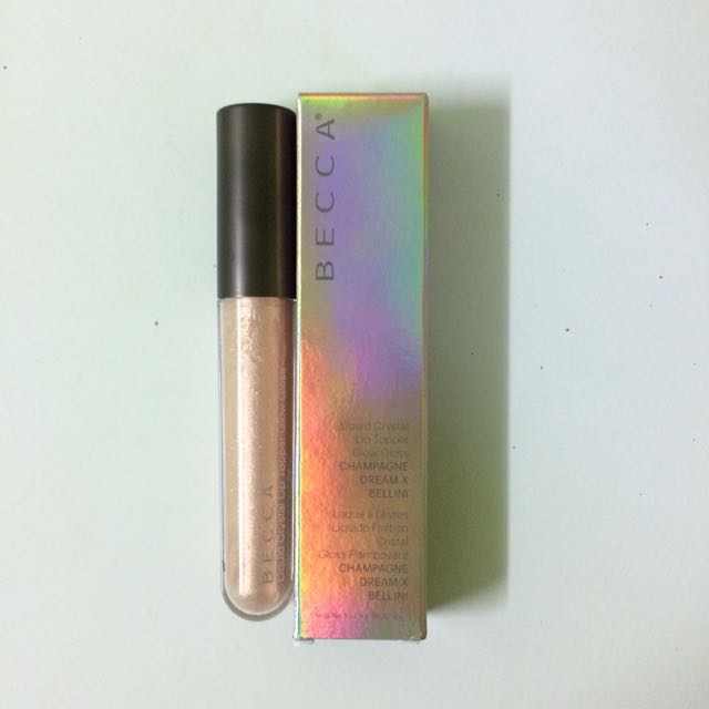 Becca Liquid Crystal Lip Topper Glow Gloss in Champagne Dream X Bellini