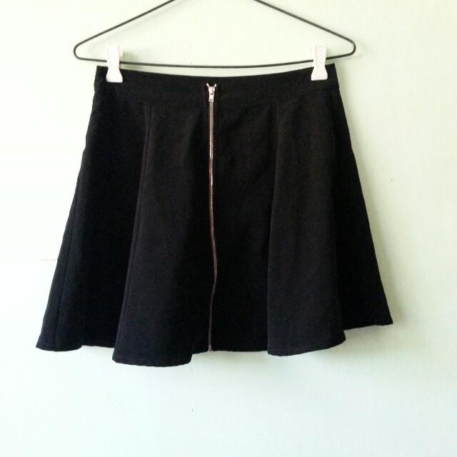 Bershka Zip Front Skirt