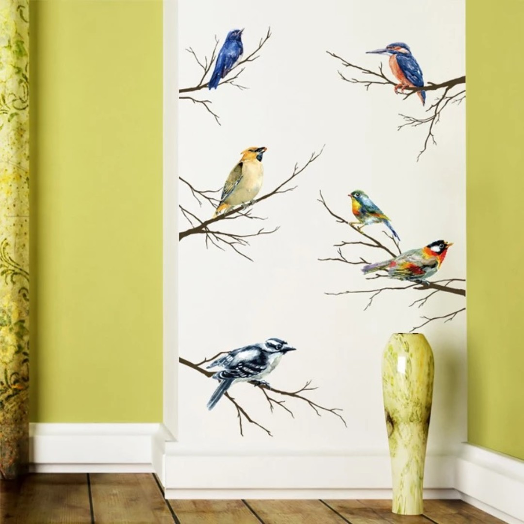 Birds & Branches Wall Stickers, Furniture, Home Decor on Carousell