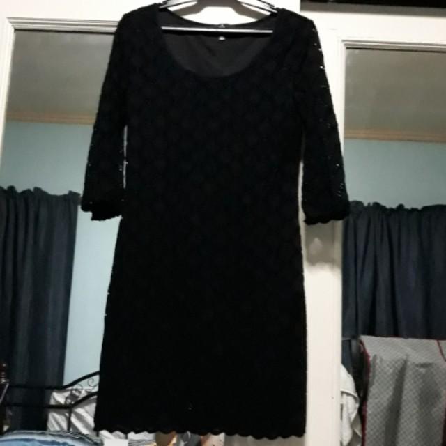 black dress (crocheted)