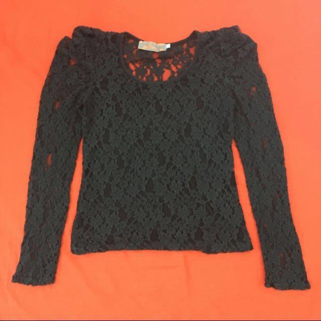 Black Lace Longsleeves