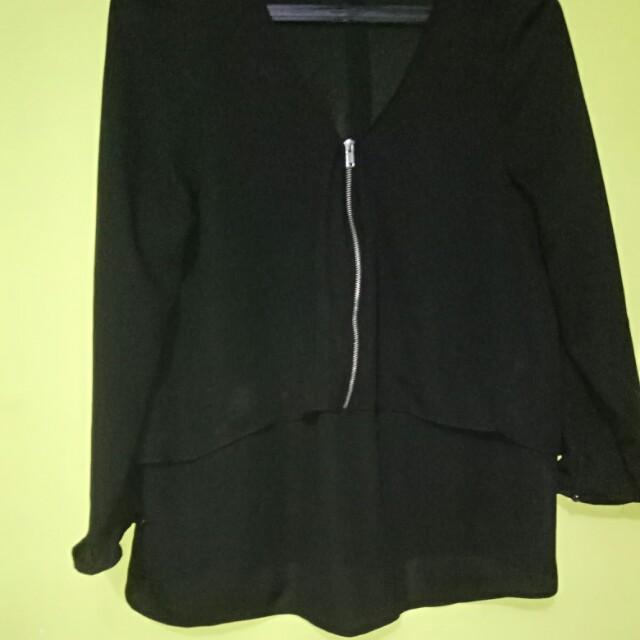 Black top blouse bershka