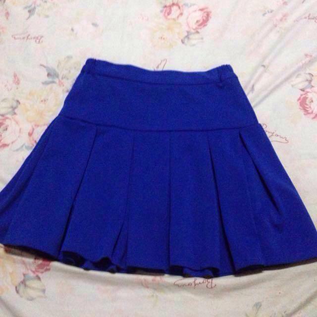 Blue Cheerleader Skirt