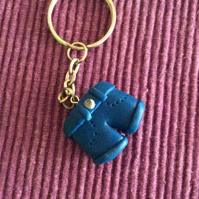 Blue Jean Key Chain