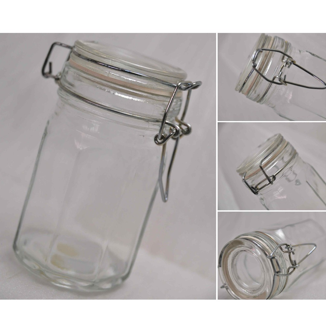 Bnew Empty Wire Bale Specialty Glass Jars (Clamp Type)