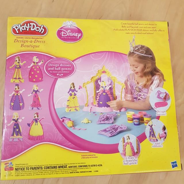 1d4ad340244b BNWT Playdoh princess design a dress botique belle rapenzal disney ...