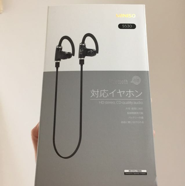 598ae2000a8 Brand New Miniso Wireless Bluetooth Headset (Black) S530 ...