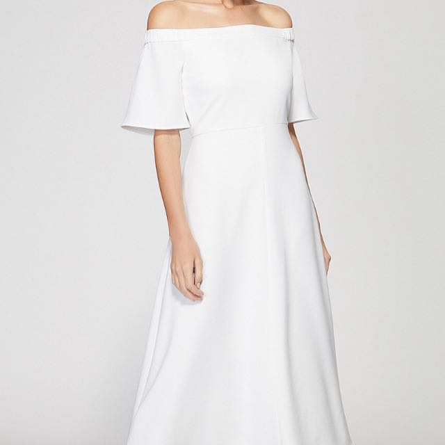 BRAND NEW RRP $159 - Witchery Flutter Dress White