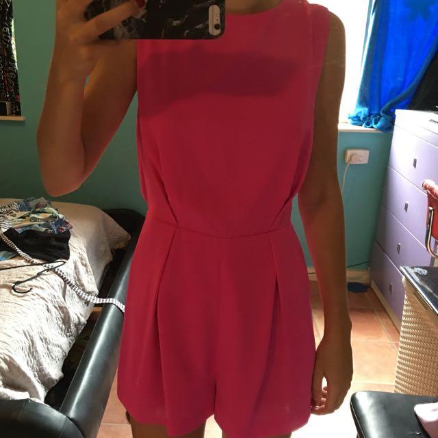 Bright pink jumpsuit