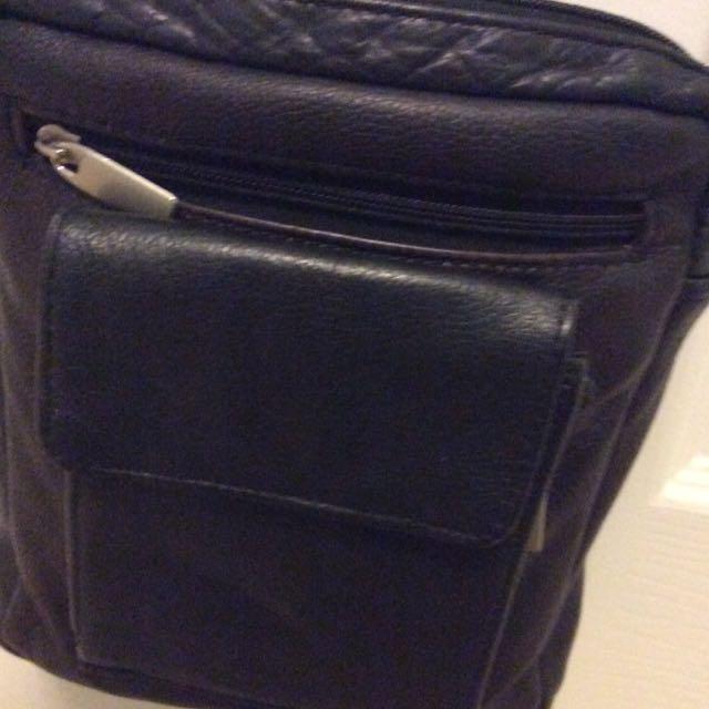 Brown black purse