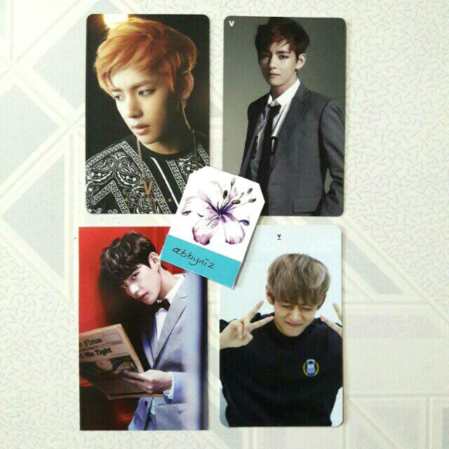 BTS V/Taehyung photocards