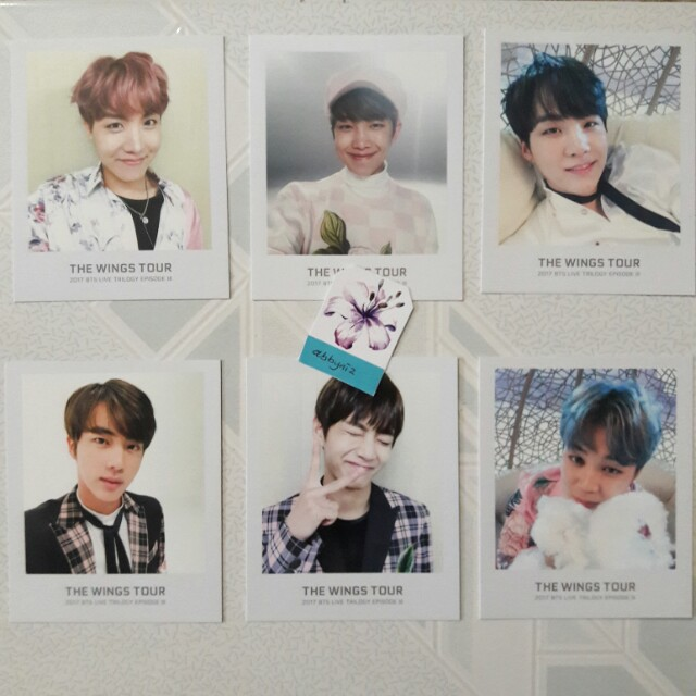 BTS Wings Tour photo ticket polaroid