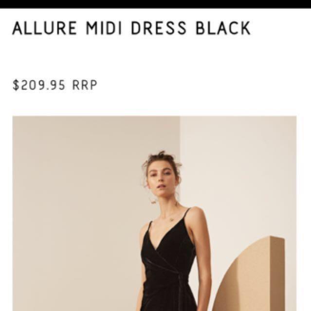 CAMEO COLLECTIVE velvet dress