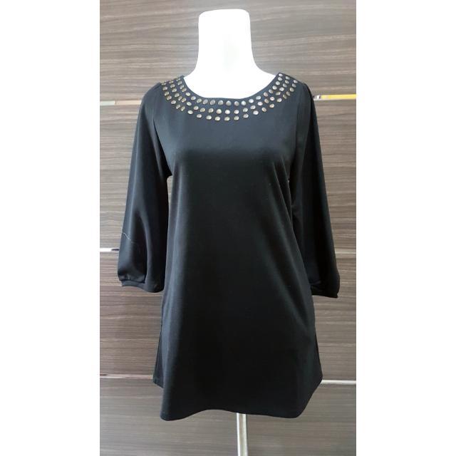 Casual black mini dress
