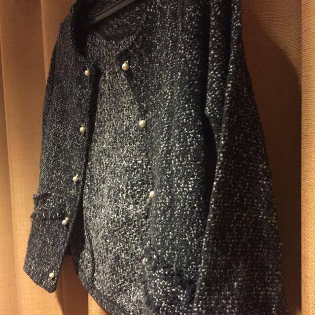 Chanel look a like tweed blazer size S