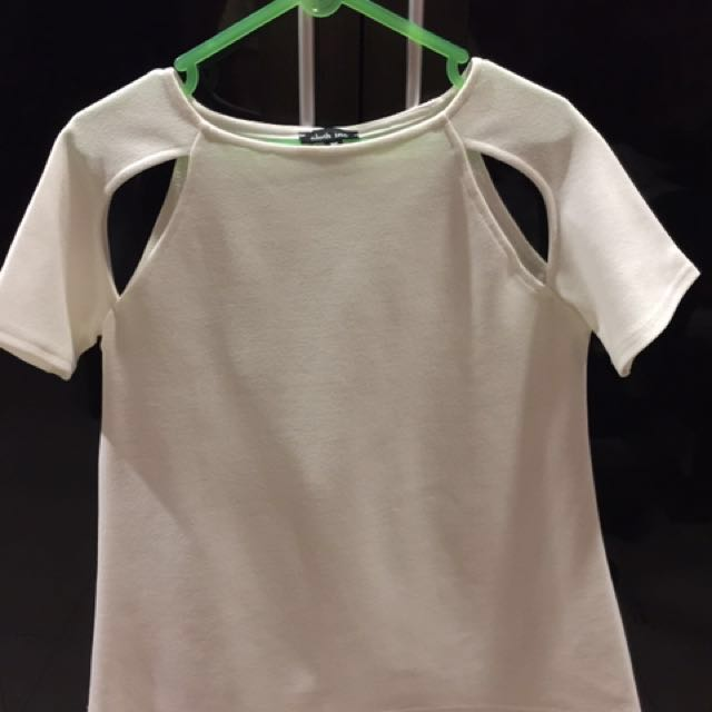 Cloth inc cut out white top